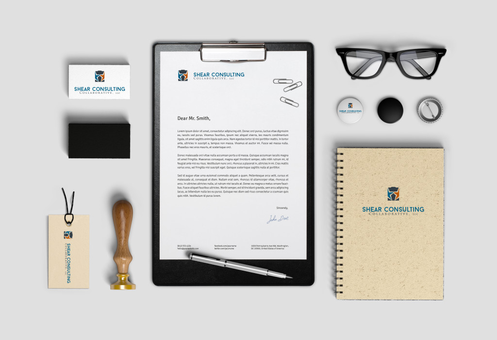 Branding Identity MockUp: Healthcare management consulting