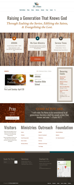 Mt Tahoma Baptist Church home page
