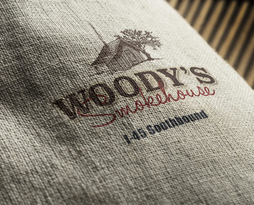 logo for Woody's Smokehouse in Centerville, TX