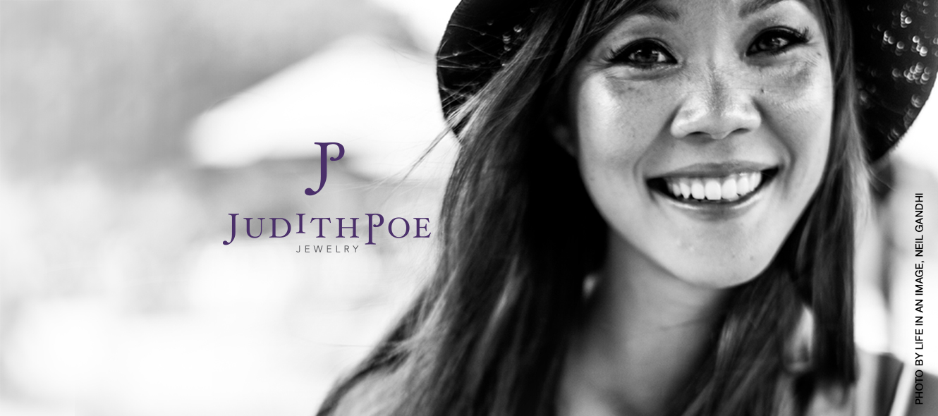 Judith Poe Jewelry, photo by Life in an Image, Neil Gandhi, logo by Fat Dog Creatives, Rhonda Wood Negard
