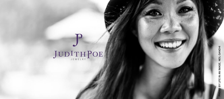 Judith Poe Jewelry, photo by Life in an Image, Neil Gandhi, logo by Fat Dog Creatives, Rhonda Wood Negard