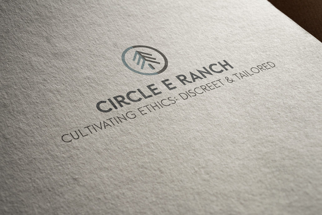 Logo for Circle E Ranch, Cultivating Ethics: Discreet & Tailored