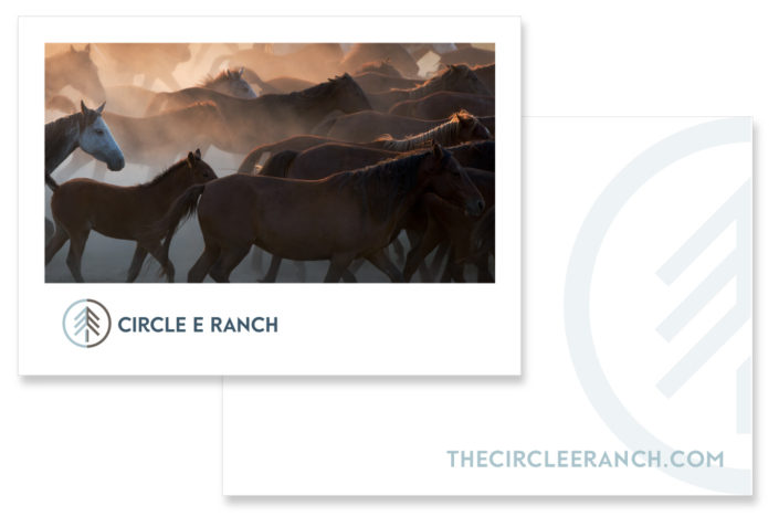 The Circle E Ranch paper system by Fat Dog Creatives, Rhonda Wood Negard, graphic designer
