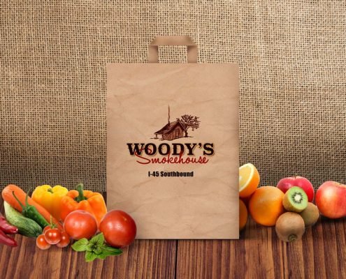 Woody's Smokehouse I-45 Southbound shopping bag