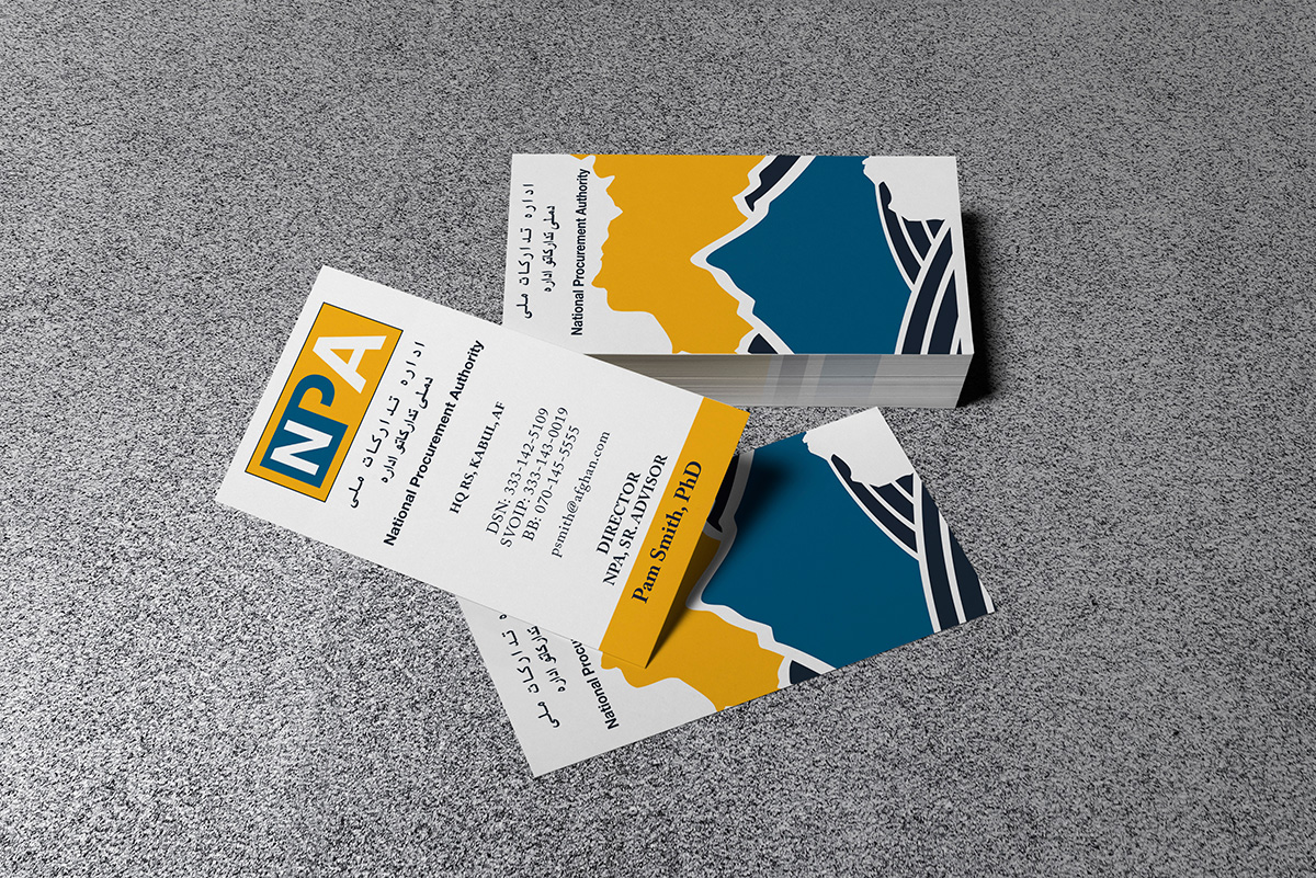 National Procurement Authority (NPA) business cards mockups