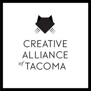 Creative Alliance of Tacoma's logo designed by Rhonda Negard of Fat Dog Creatives