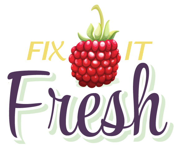 Fix It Fresh logo design by Rhonda Negard and Fat Dog Creatives