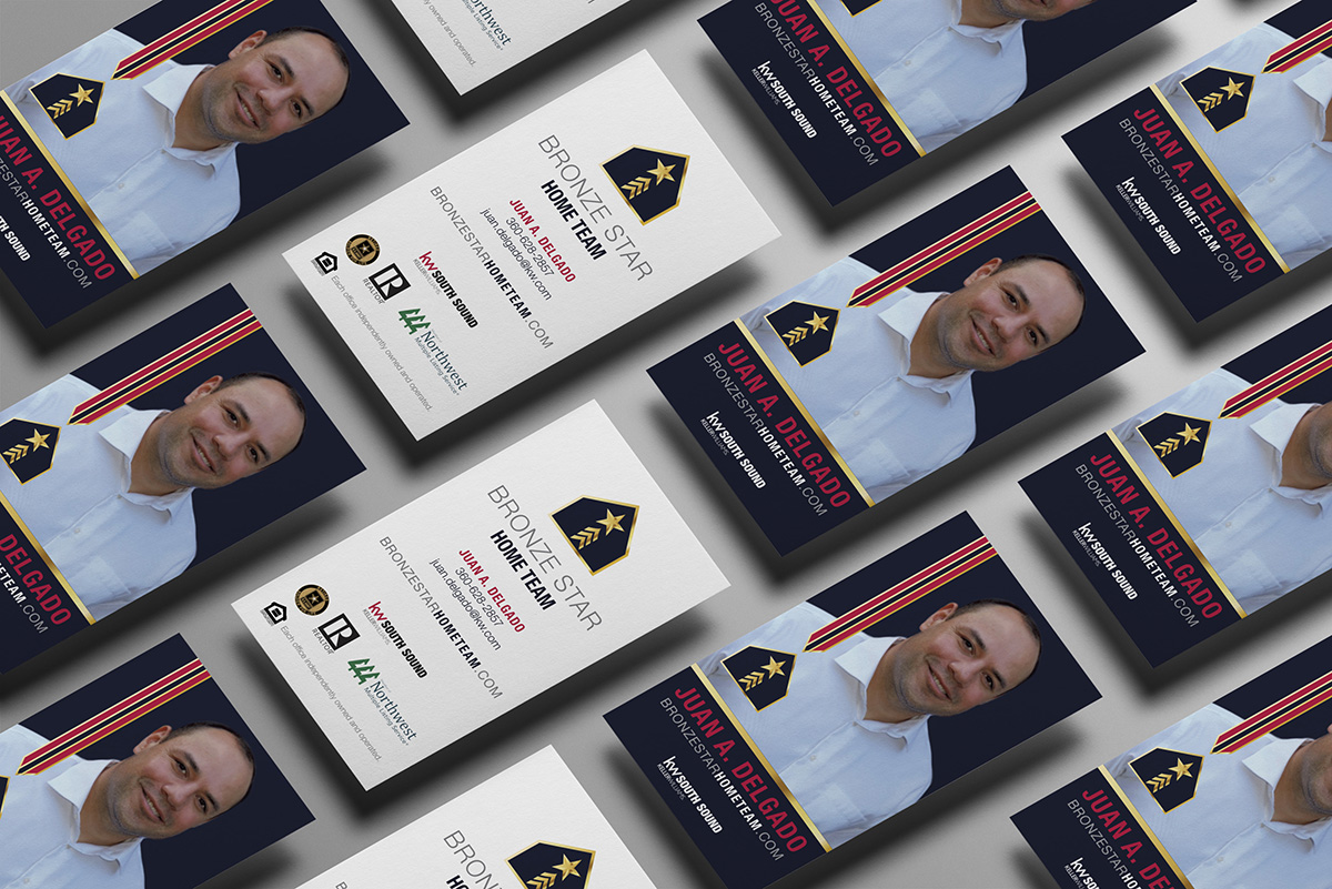Business cards for Bronze Star Home Team
