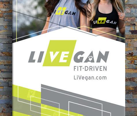 LiVEgan vertical banner mockup