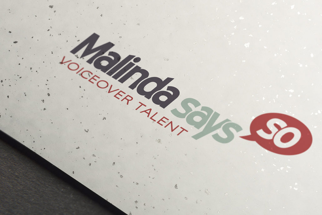 logo for Malinda Says So, voiceover talent