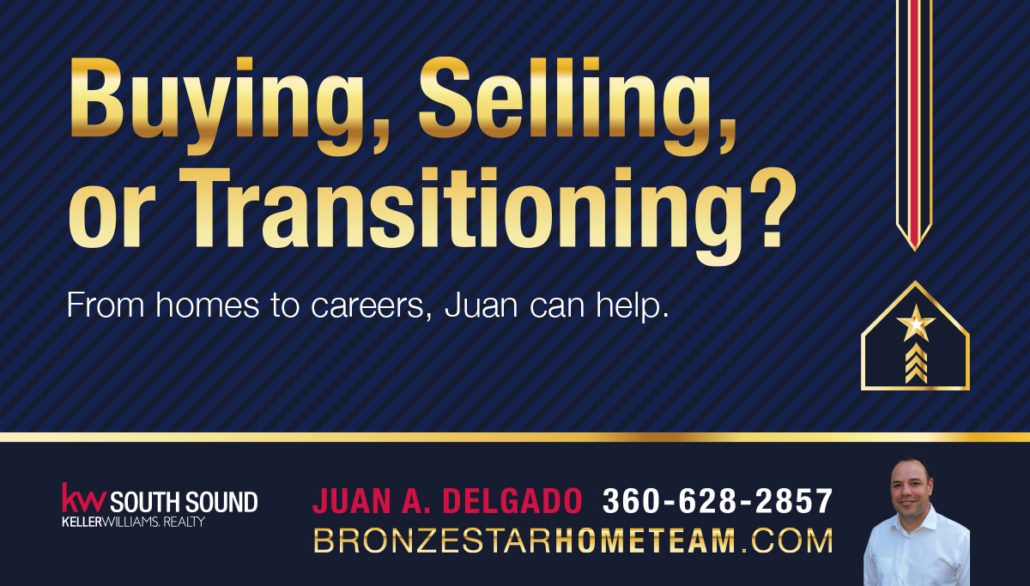 Print ad and Facebook cover image for Bronze Star Home Team in Olympia, WA