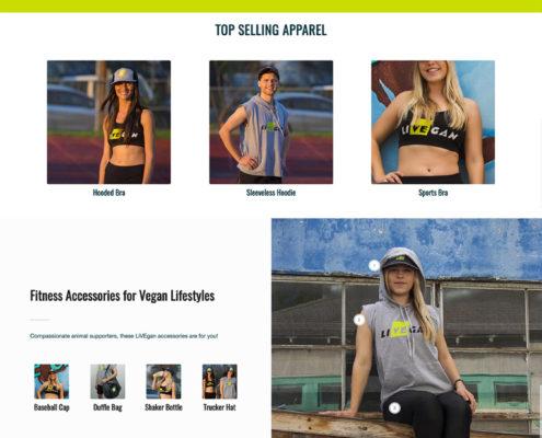 LiVEgan.com home page