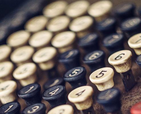 Old Cash Register Keys