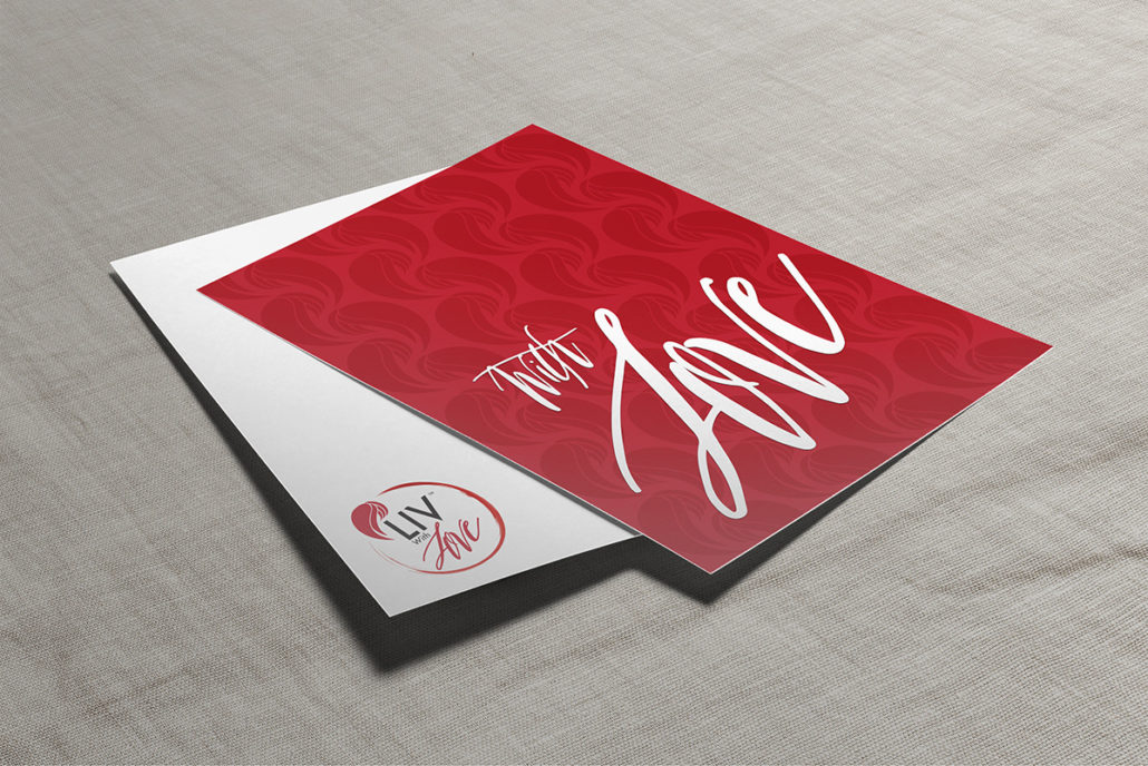 Image of Liv With Love Note Card
