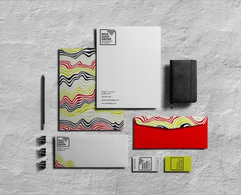 Wild Child Group, Candace Thompson, branded documents mockup