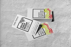 Wild Child Group, Candace Thompson, business card redesign mockup