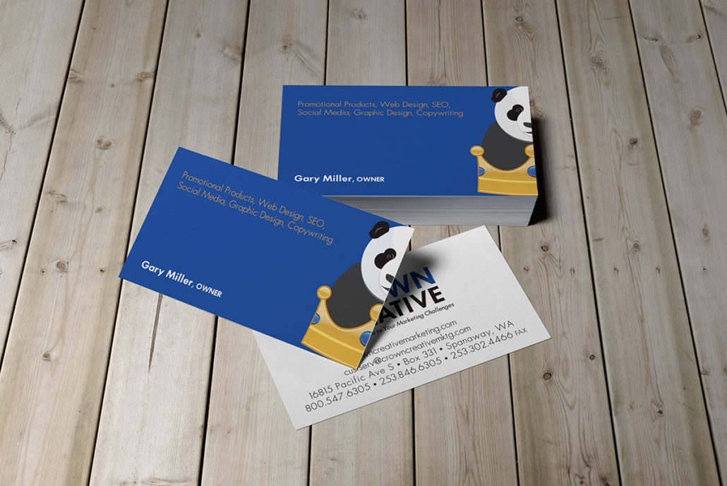 Crown Creative biz cards mockup
