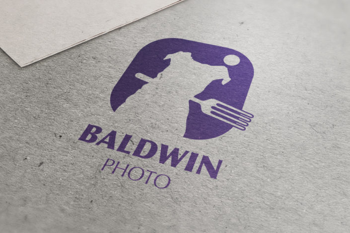 Baldwin Photo logo mockup