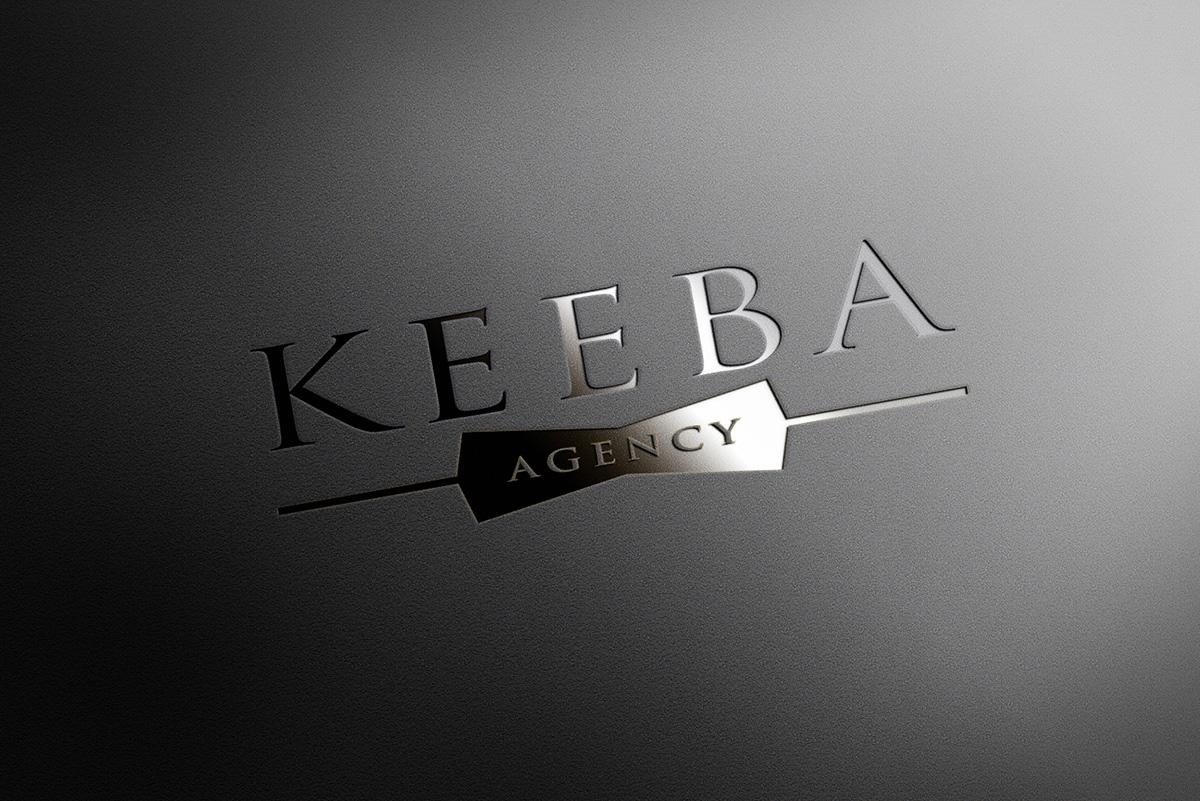 Keeba Agency letterpress mockup