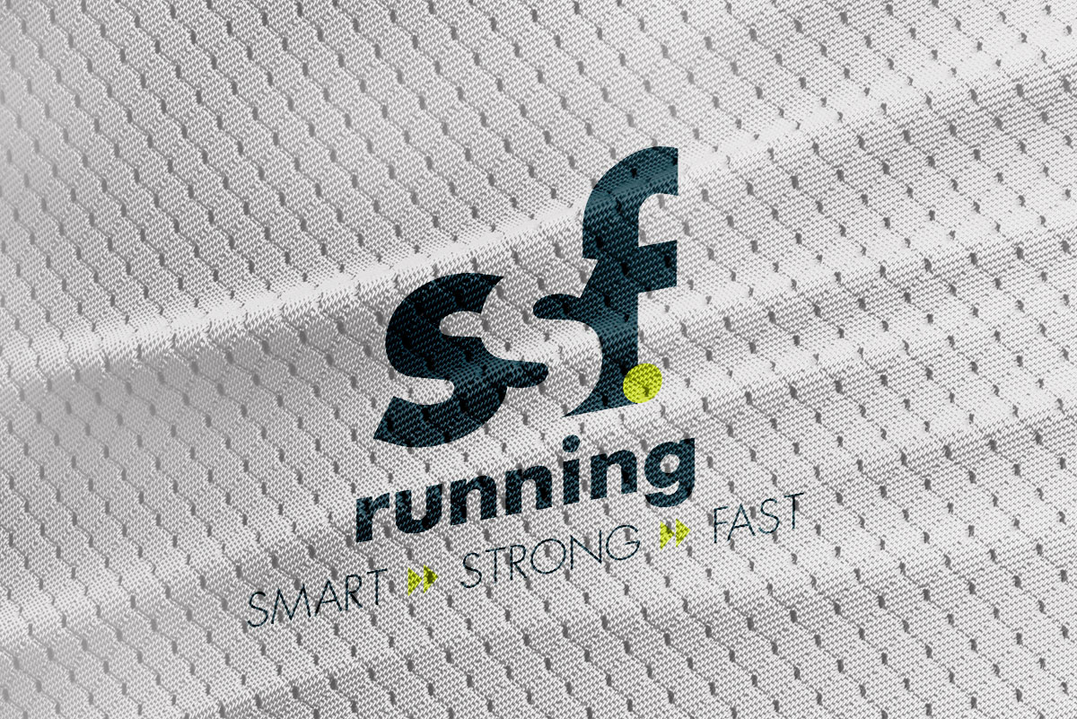 SSF Running logo mockup on a jersey