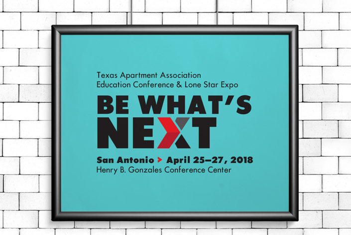 Be What's Next, TAA 2018 Conference sign