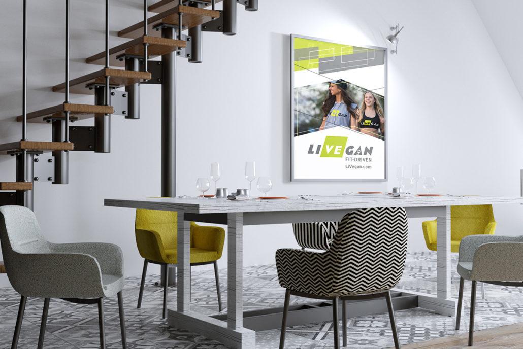 LiVEgan Poster in a loft