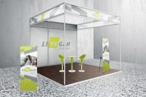 LiVEgan trade show booth