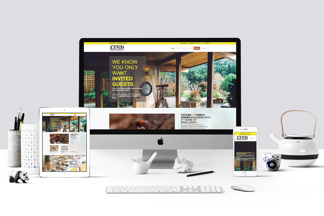 Linda Pest Control website mockup