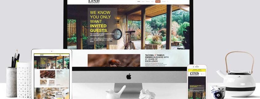 Linda Pest Control website mockup