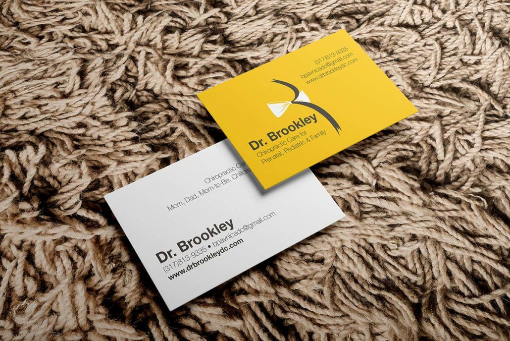 Business car mockup for Dr. Brookley Pavnica, Chiropractor