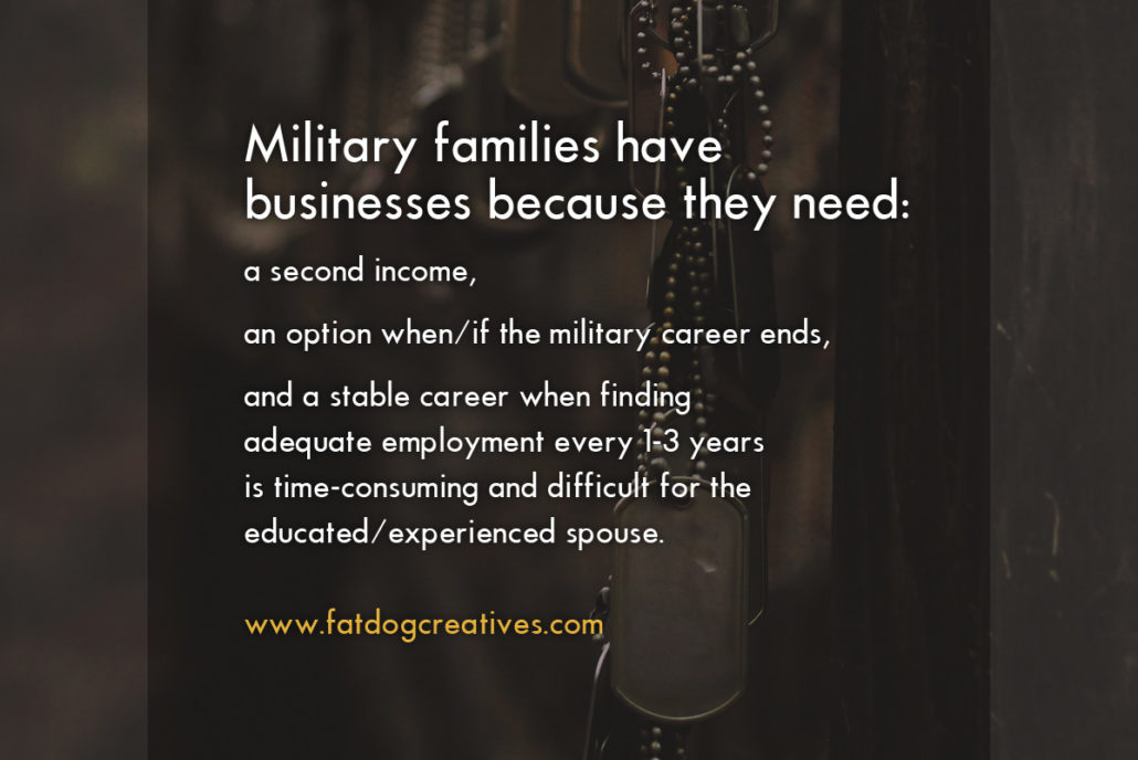Military family businesses and locality