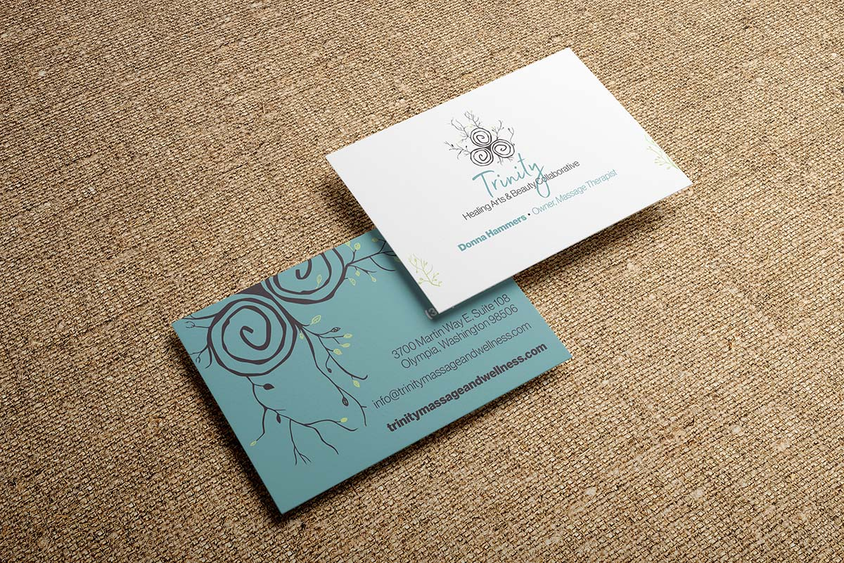 Trinity massage and spa business cards