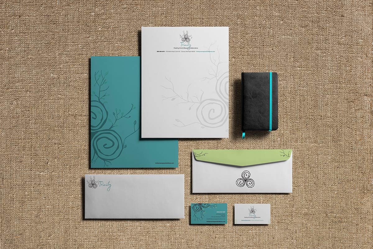 Trinity massage and spa branded documents
