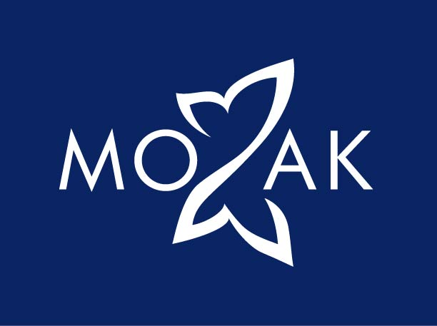 Mozak Design logo reversed