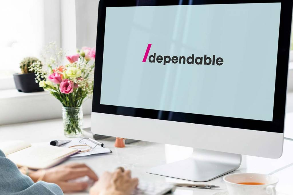 Mockup of Dependable Logo