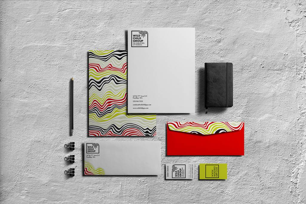 Wild Child Group mockup of business documents