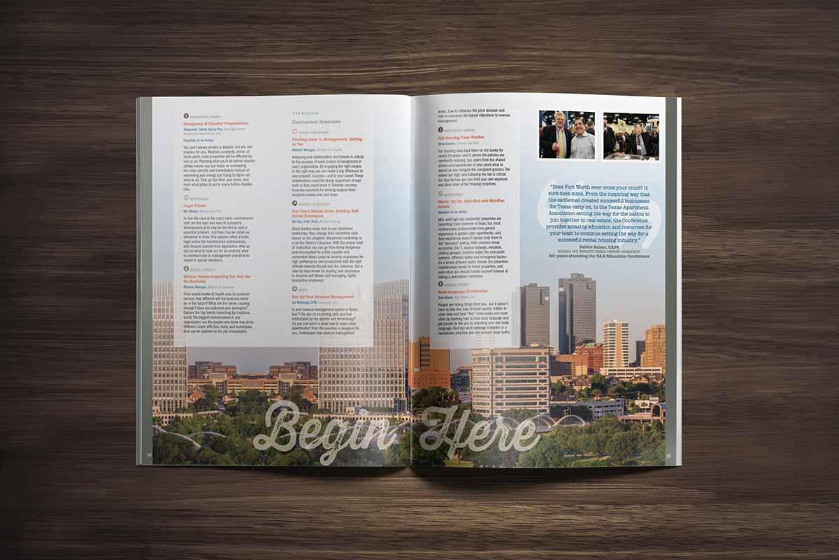 Texas Apartment Association convention program design