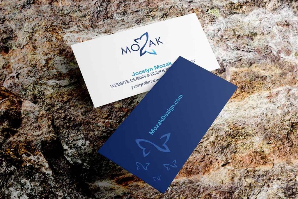 Mozak Design business cards mockup