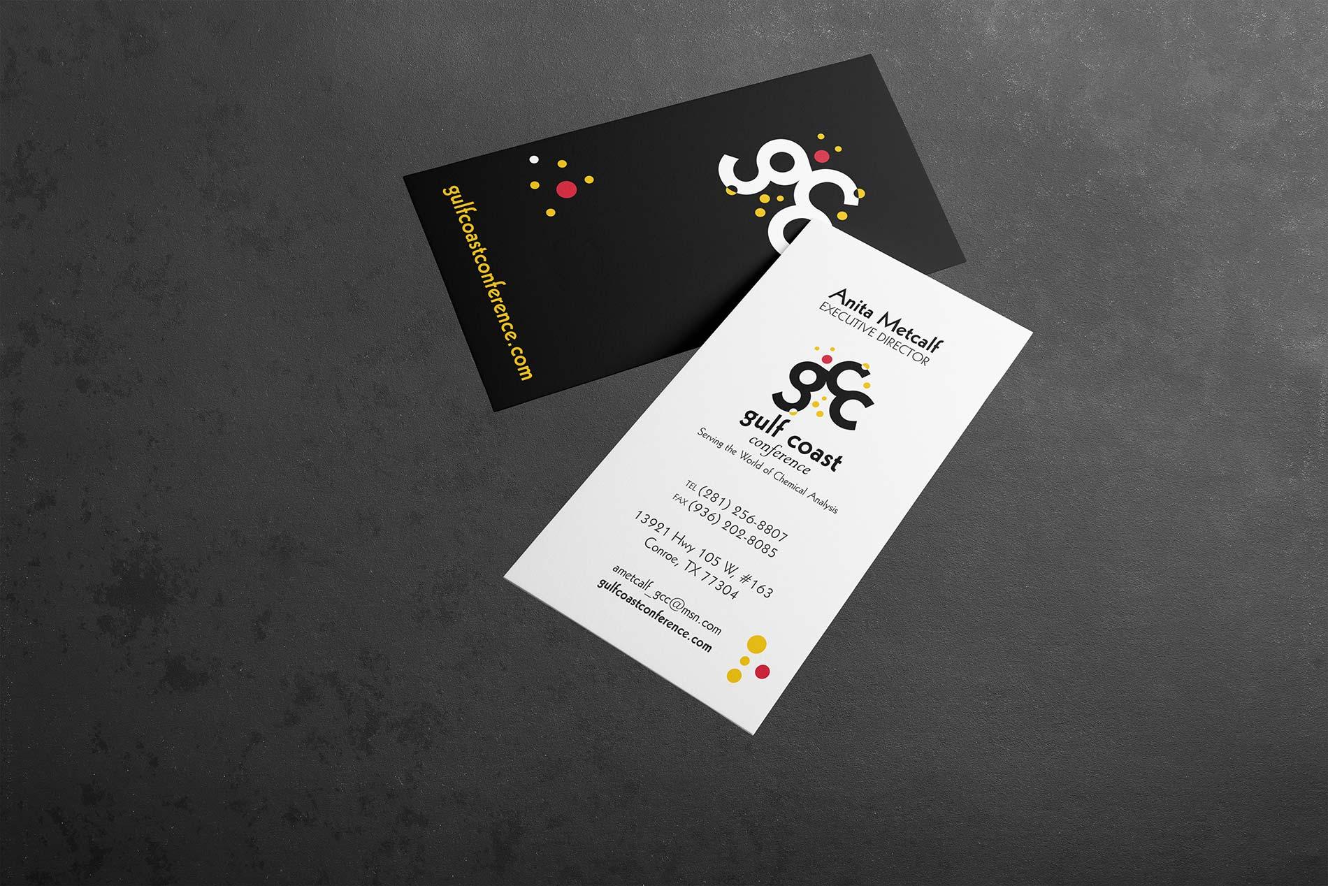 Gulf Coast Conference business card mockup