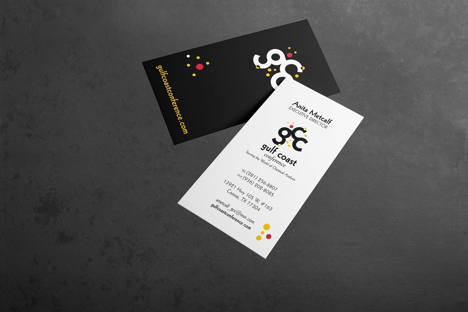 Gulf Coast Conference business card mockup