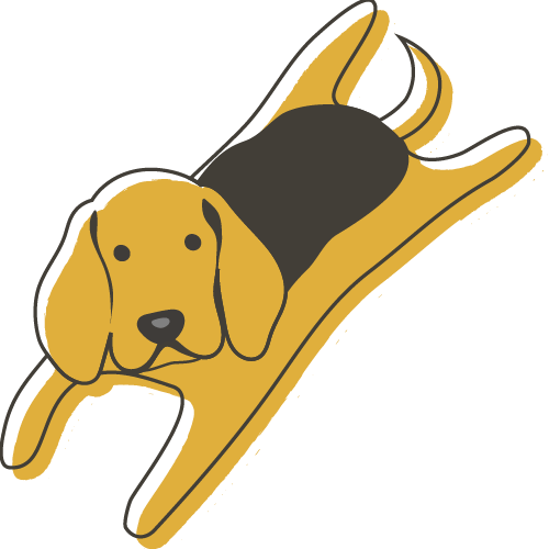 Illustration of a Beagle laying down