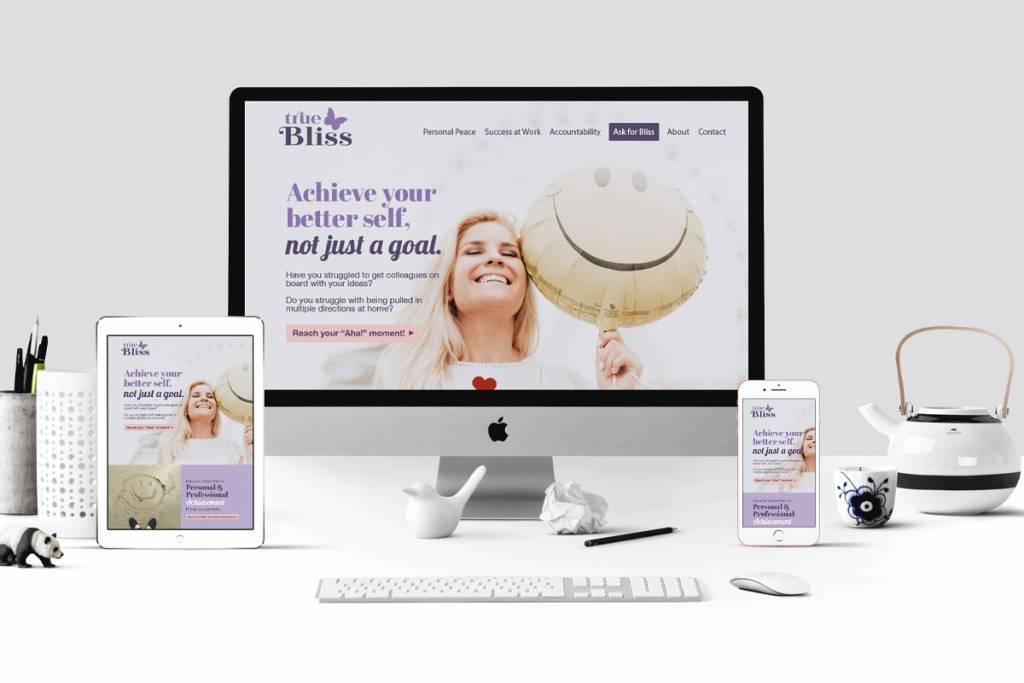 True Bliss website mockup