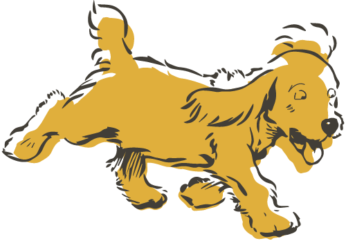 Illustration of a Cocker Spaniel running