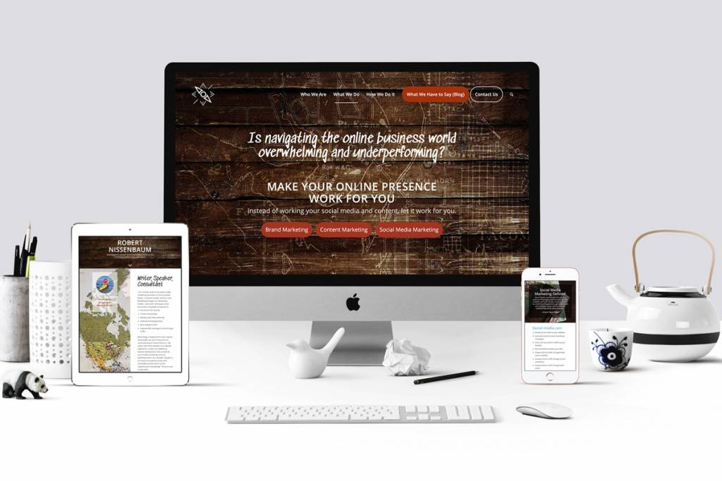 TSO Media website mockup