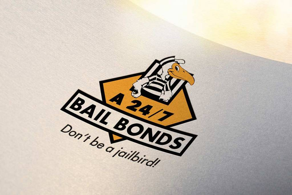 A 24/7 Bail Bonds logo redesign mockup
