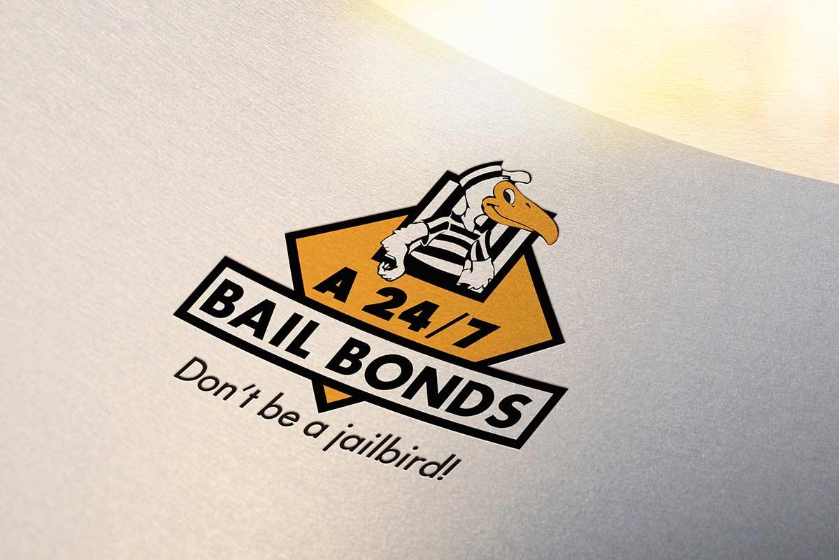 A 24/7 Bail Bonds logo redesign mockup