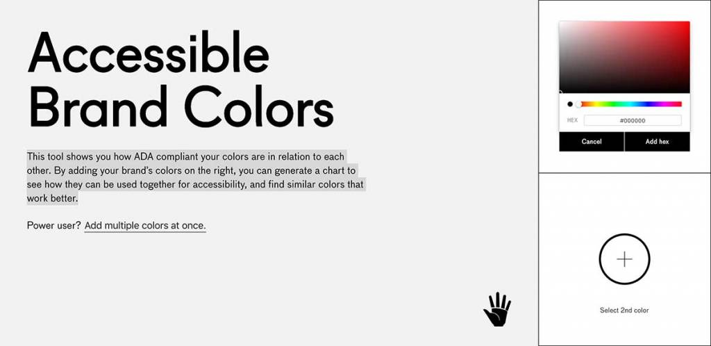 Accessible brand colors graphic