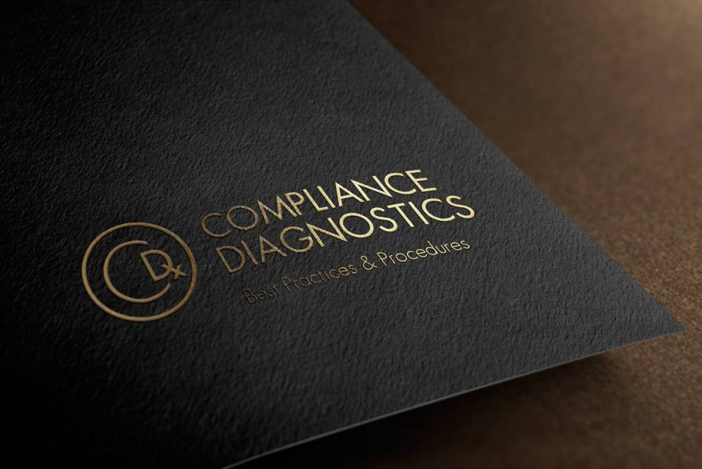 mockup of Compliance Diagnostics logo