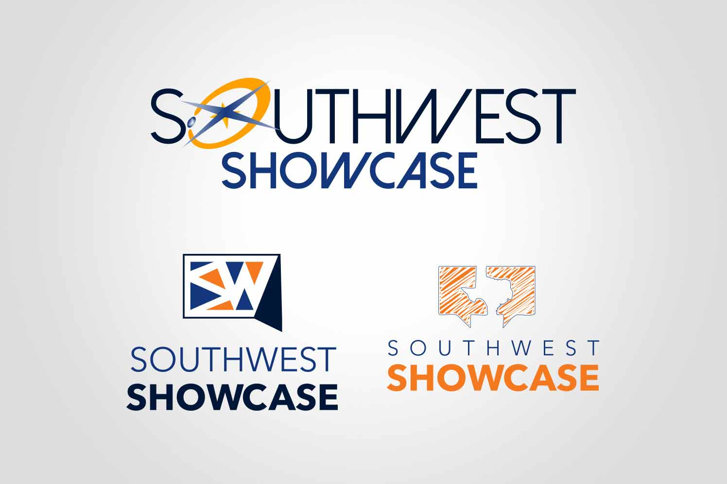 Southwest Showcase logo mockups