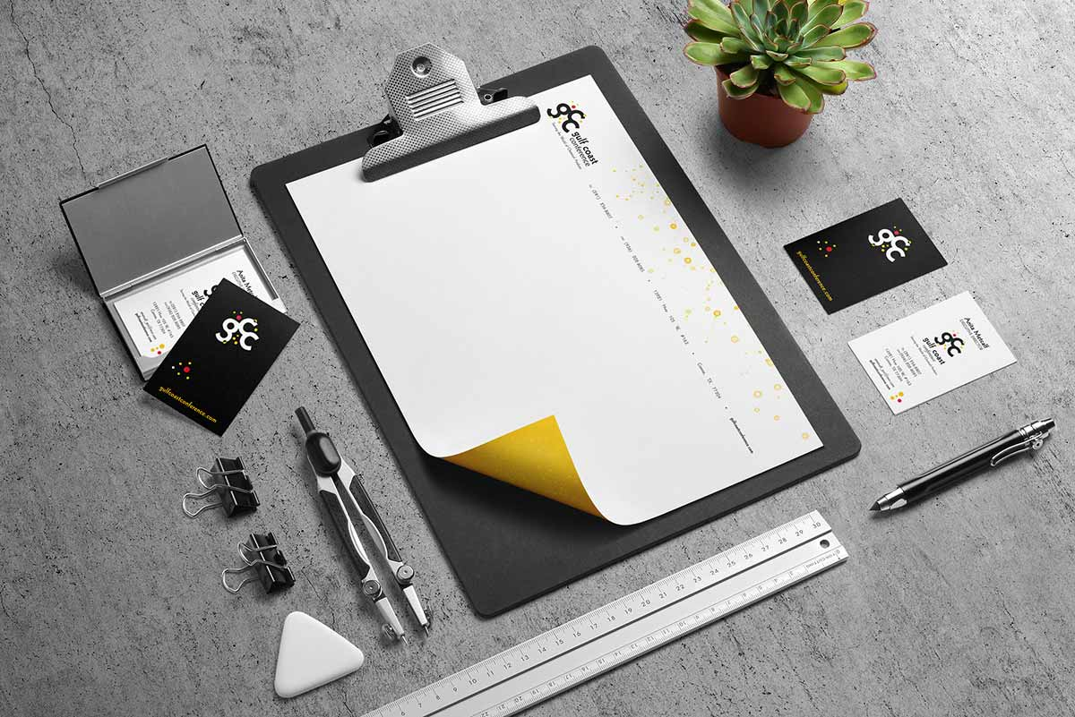 Gulf Coast Conference business paper system mockup